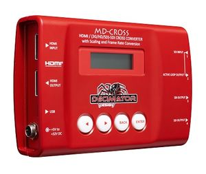 MD-CROSS: HDMI/SDI Cross Converter w/ Scaling, Frame Rate Conversion, Overlays & TPG