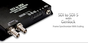 SDI to SDI scaler with genlock